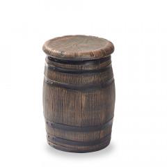 Stuhl, Hocker in Barrique-Fass Optik, H55cm, Ø 40 cm, aus Kunststoff