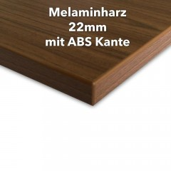 Melaminharz Tischplatte 22mm mit ABS Kante