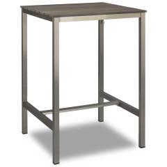 Stehtisch - Jabel mit Tischplatte 80x80cm in grau