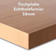 Tischplatte Buche Echtholzfurnier 58 mm
