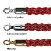 "Absperrkordel ""Luxury"" in Rot, diverse Beschläge, Ø 30 mm"