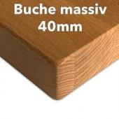 Tischplatte Buche massiv 40 mm
