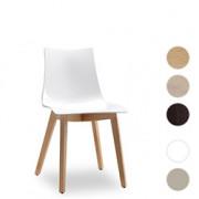 "Kunststoffstuhl mit Holzgestell ""Zebra Antishock Natural Solid""  2806"