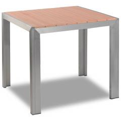 Terrassentisch - Jabel mit Tischplatte 80x80 in Teakholzoptik