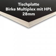 Tischplatte Birke Multiplex 28mm mit HPL