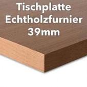 Tischplatte Buche Echtholzfurnier 39 mm