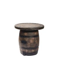 Fass Terrassentisch - in Holzoptik aus Kunststoff, Ø 100 cm x H 75 cm