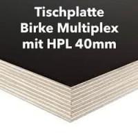 Tischplatte Birke Multiplex 40mm mit HPL