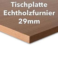 Tischplatte Buche Echtholzfurnier 29 mm