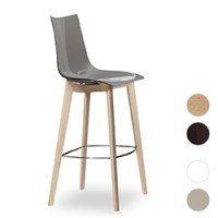 """Barhocker """"Zebra Natural - 2810"""" mit Sitzschale aus Kunststoff"""