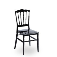 Hochzeitsstuhl, Stapelstuhl Napoleon in schwarz