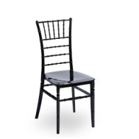 Hochzeitsstuhl, Stapelstuhl Tiffany in schwarz
