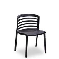 Stapelstuhl Rivera in schwarz aus Kunststoff