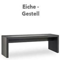 "Loungetisch / Bank ""Quado L"" Eiche-Massivholz"