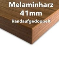 Melaminharz Tischplatte 41mm mit ABS Kante