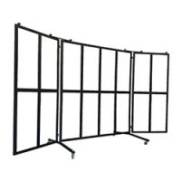 Schutzwand / Windschutz mit 16-Glasfenster