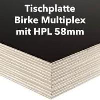 Tischplatte Birke Multiplex 58mm mit HPL