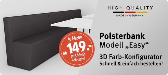 3D Konfigurator für Polsterbank EASY