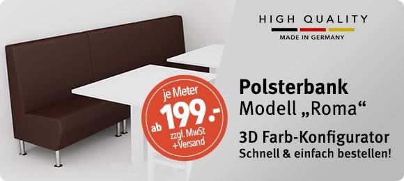 3D Konfigurator für Polsterbank ROMA