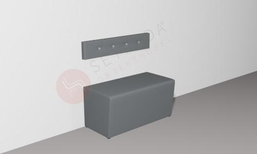 Gastronomie Polsterbank FLEX im Leichtbau-Verfahren mit 20cm Rückenlehne