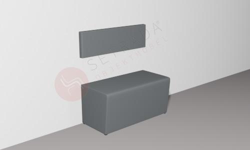 Gastronomie Dinerbank FLEX im Leichtbau-Verfahren mit 30cm Rückenlehne